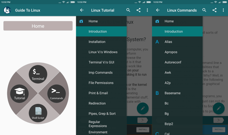 Photo of Guide to Linux, una app para Android con tutoriales, comandos y un emulador de Terminal