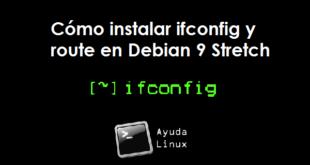 Cómo instalar ifconfig y route en Debian 9 Stretch