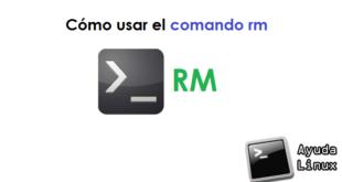 Cómo usar el comando rm