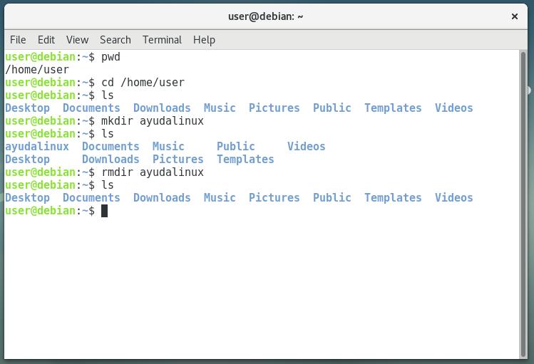 Comandos de Debian para el manejo de archivos