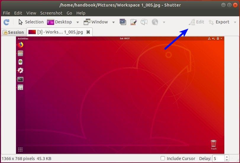 Cómo añadir el menú Editar a Shutter en Ubuntu 18.04