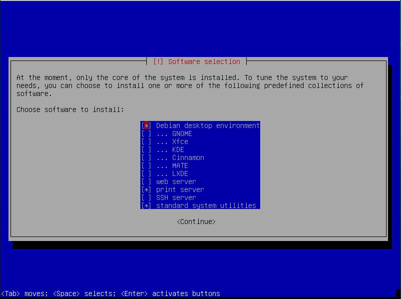 Como instalar Debian sin entorno grafico