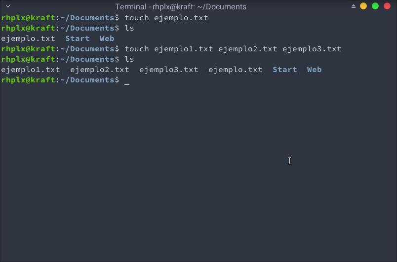 Dos formas de crear un archivo de texto desde la terminal