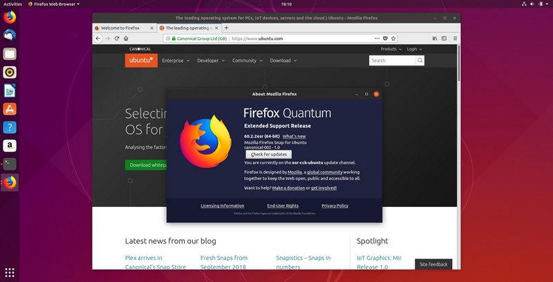 Photo of Firefox 60 ESR ya está disponible en Ubuntu como un complemento
