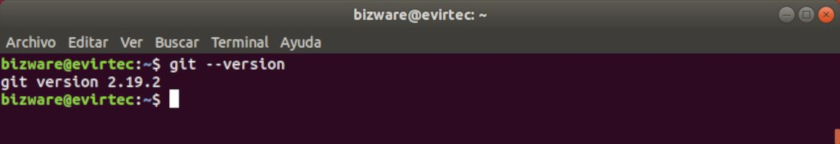 Ver la versión de Git