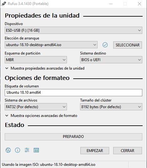 Instalar Ubuntu en un PC paso 01