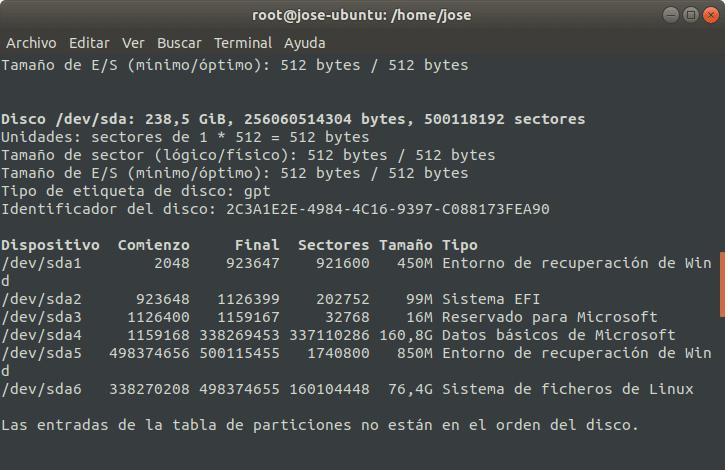 Montaje y desmontaje de una partición en Linux