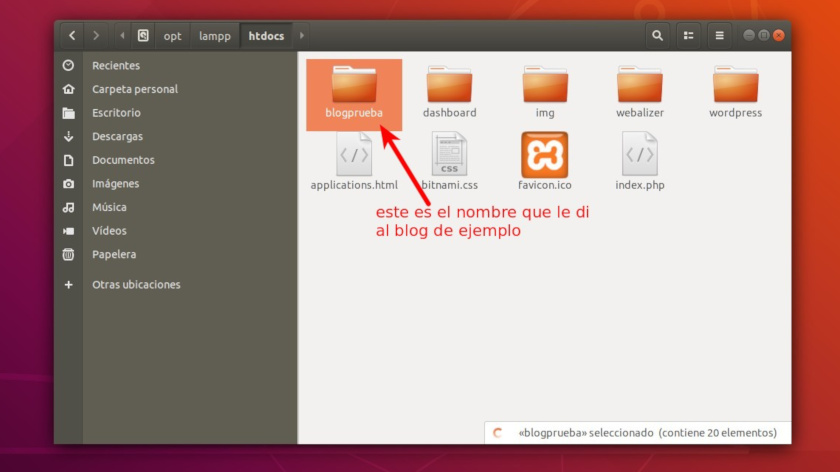 WordPress en Xampp