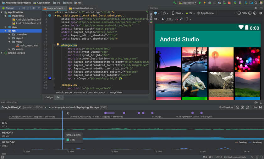 Android Studio Interfaz