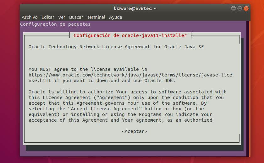 Licencia de Oracle Java