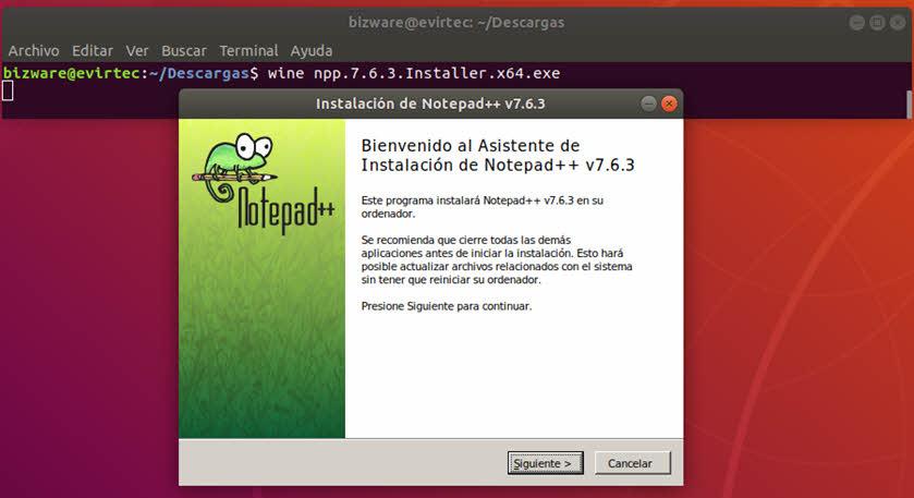 Instalación de Notepad++