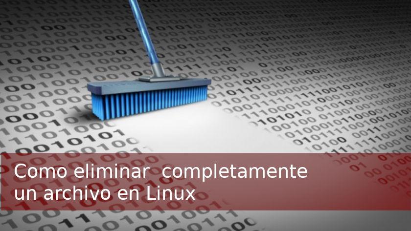 Borrar un archivo en linux