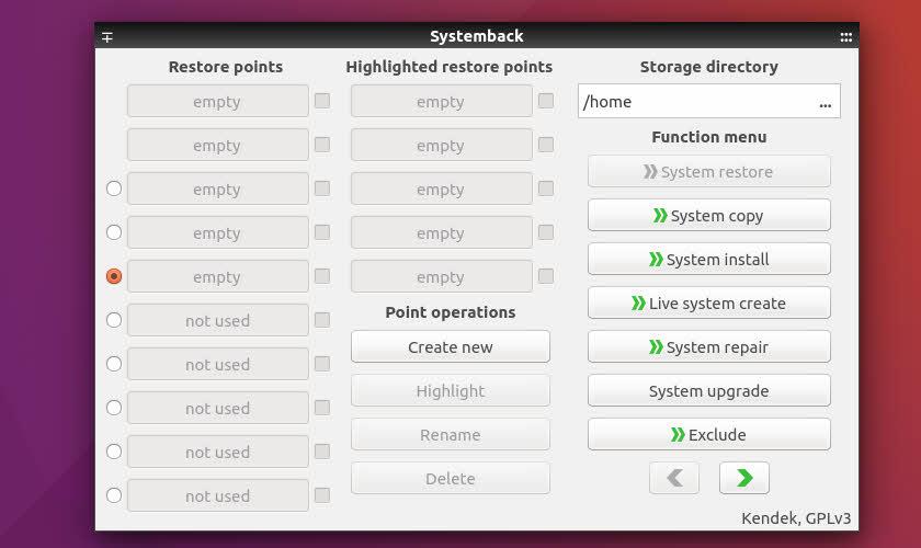 Características de Systemback