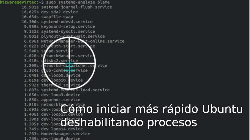 Cómo iniciar más rápido Ubuntu deshabilitando procesos
