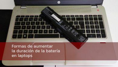 Formas de aumentar la duración de la batería en laptops