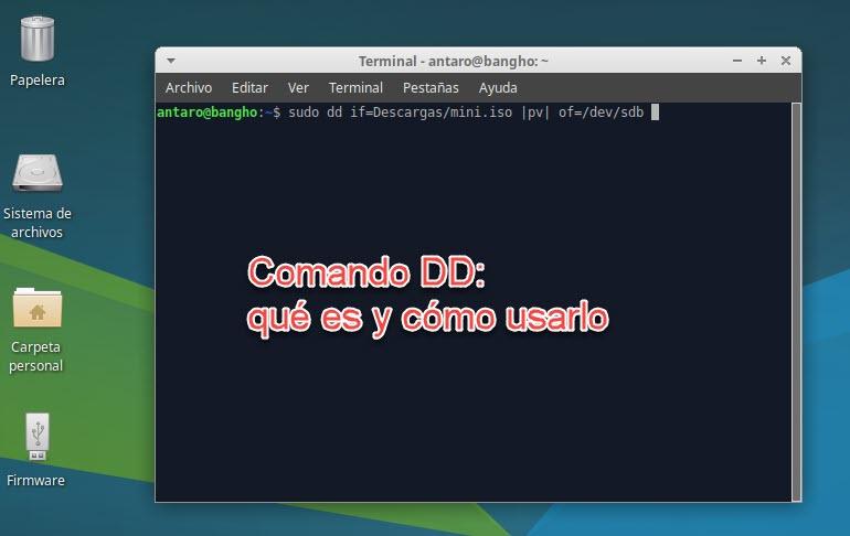 Introducción al comando DD en Linux