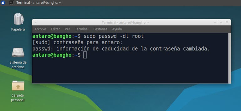 verificar si está activo el usuario root en Ubuntu
