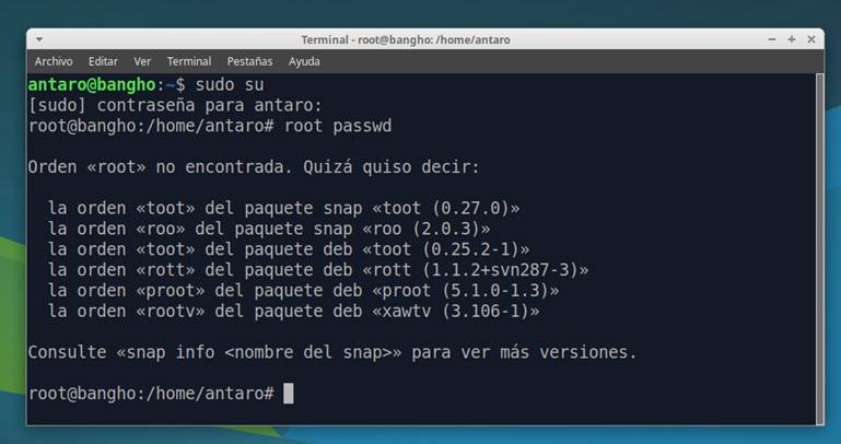 comando sudo su en Ubuntu