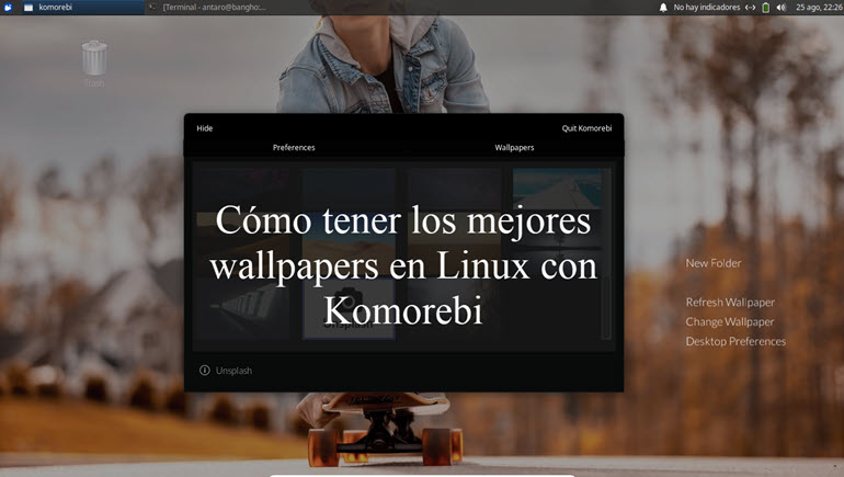 wallpapers con Komorebi