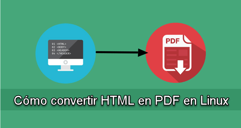 Cómo convertir HTML en PDF en Linux