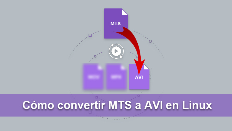 Cómo convertir MTS a AVI en Linux