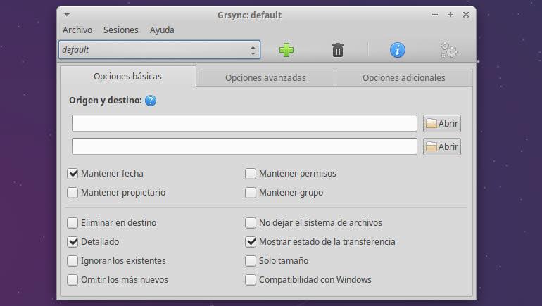 Grsync – ligera aplicación para realizar backups en Linux
