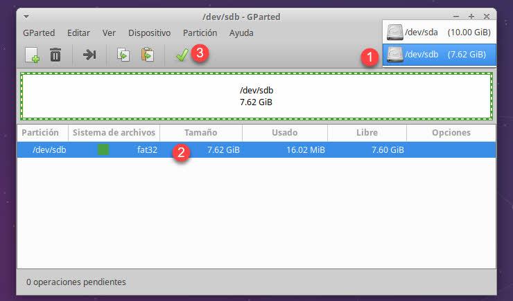 La forma más popular de trabajar con particiones en Linux
